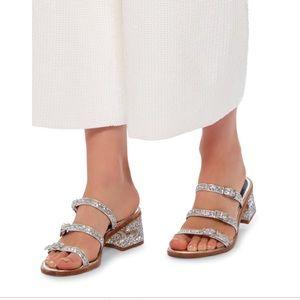 Tibi glitter sandals